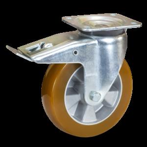 koło aluminiowo poliuretanowe duże udźwigi skrętne z hamulcem BHAU COLSON wózki transportowe