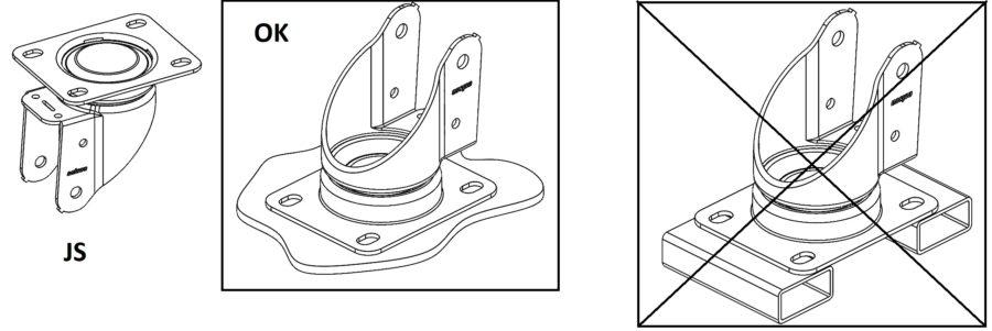 mocowanie widelców JS Colson